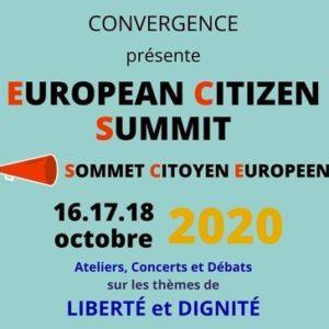 17 et 18 octobre 2020 : Sommet Européen Citoyen à Bruxelles