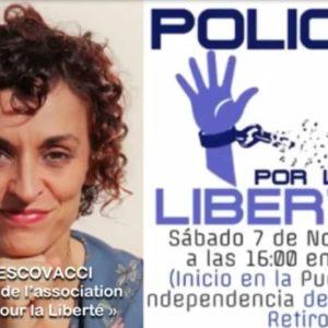 14 décembre 20 : Espagne – appel au respect des libertés civiles par l'officier de police, Sonia Verscovacci !