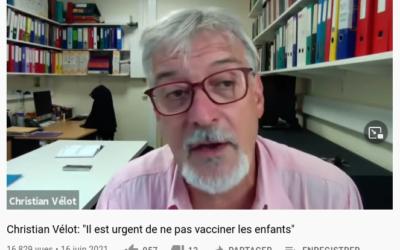 DR C. VELOT, généticien – Il est urgent de ne pas vacciner les enfants !